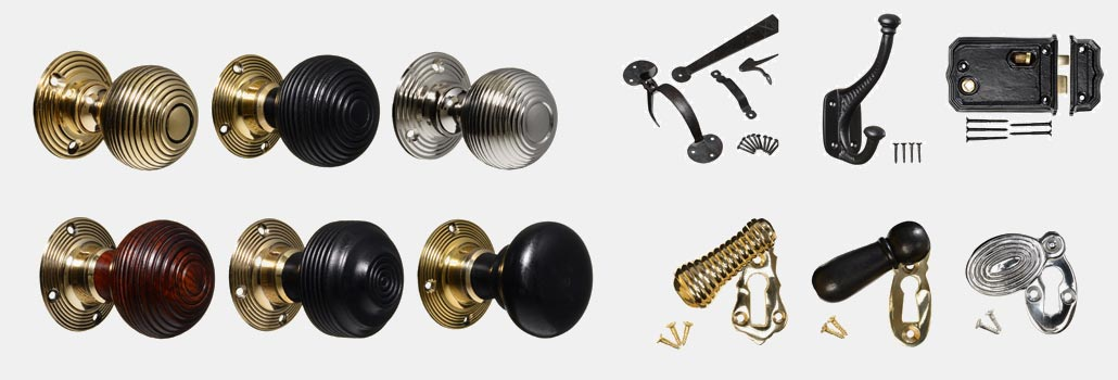 Vintage door knobs, keyhole covers & ironmongery