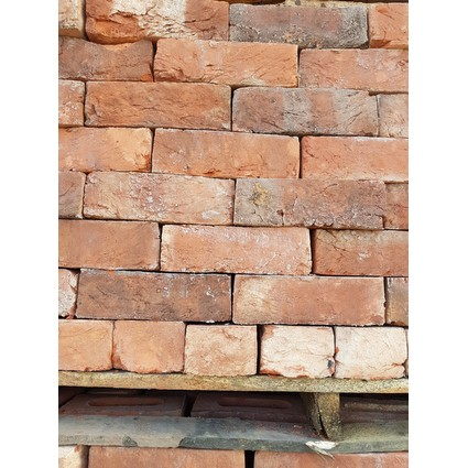 "Reclaimed Finish Rustic Red / Brindle 2 7/8"" - 3"" Handmade Bricks (CDC-110)"