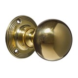 Door Knobs - Handles - Victorian - Brass - Plain (CDC-12-BRPL)