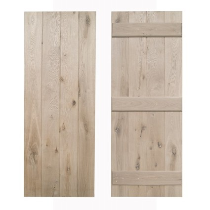 Square edged solid oak cottage door - Unfinished (CDC-DOOR1)