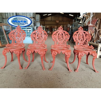 Reclaimed Victorian Cast Iron Garden Chairs Set of 4 (CDC-RECVICGDNCHAIRS)