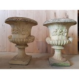 Sandford Stone (reconstituded stone) Classical Garden Urns (Pair) (CDC-SANDFORD-URNS)