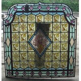 Reclaimed Original Hand Painted Stained Glass and Leaded Windows. (CDC-STAINEDGLASS1)