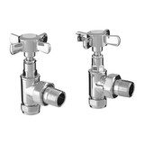 Radiator valve - Tap head Chrome manual set. (CDC-TAPHEAD-CHR)