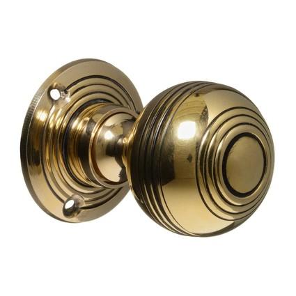 Door Knobs Handles Georgian Vintage Brass Reeded